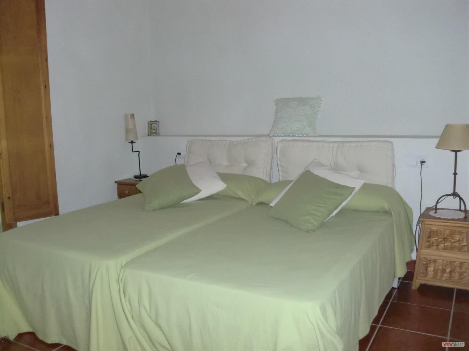 alojamiento casa rural dormitorio